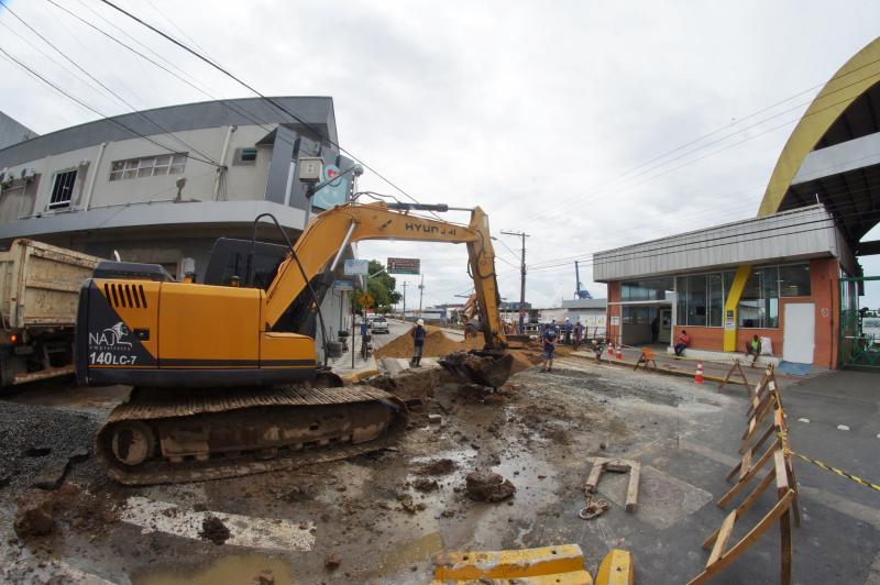 Modificações no trânsito priorizam andamento de obras no Centro de Itajaí